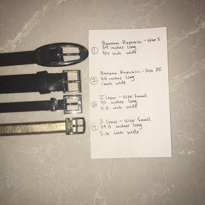4 skinny waist belts (3 size S, 1 size XS)